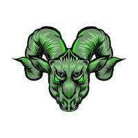 goat head mascot vector