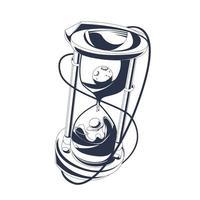hourglass inking illustration artwork vector