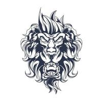lion inking illustration artwork vector