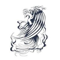 phoenix inking illustration artwork vector