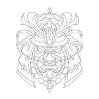 vector hand drawn illustration of katsyu ronin
