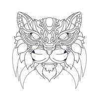 vector hand drawn illustration of cat