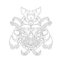 vector dibujado a mano ilustración de satanás samurai