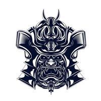 hanzo samurai entintado ilustración ilustraciones vector