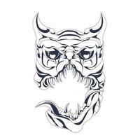 perro monstruo entintado ilustración ilustraciones vector