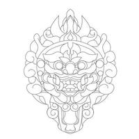 vector hand drawn illustration of culture balinese