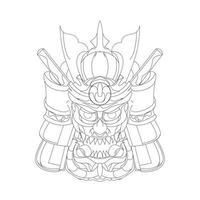 vector dibujado a mano ilustración de la guerra samurai