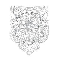 vector hand drawn illustration of mechanical owl