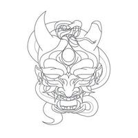 vector hand drawn illustration of satan snake