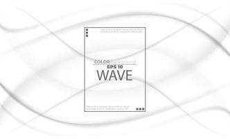 White liquid background abstract with soft waves fluid. cool gradient shapes vector