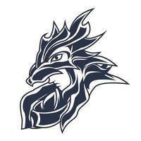 Ilustración de entintado del logotipo de la mascota de Zeus