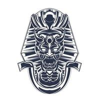 satan egypt inking illustration artwork vector
