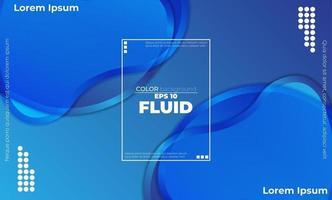 Resumen de fondo líquido azul con fluido de ondas suaves. formas frescas de degradado vector