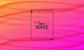 Resumen de fondo líquido arco iris con fluido de ondas suaves. formas de degradado geniales, aplicables para tarjetas de regalo, póster en la plantilla de póster de pared, página de destino, ui, ux, coverbook, baner, redes sociales publicadas vector