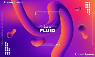 colorful liquid background abstract with soft waves fluid. cool gradient shapes vector