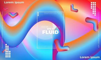 Abstract fluid color pattern of neon color liquid gradient background with modern geometric dynamic motion style Suitable For Wallpaper, Banner, Background, Card, Book Illustration, landing page, vector