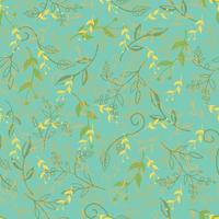 Seamless Floral Pattern cute vintage blossom vector