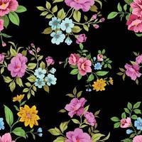 patrón floral transparente lindo vintage vector