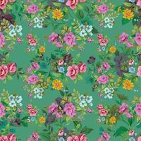 patrón floral transparente linda flor vintage vector