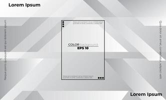 Fondo de empresa de suministro visual de color blanco y gris geométrico abstracto para tarjeta de regalo, póster en la plantilla de póster de pared, página de destino, ui, ux, coverbook, baner, publicación en las redes sociales vector