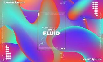 Creative geometric wallpaper. Trendy fluid flow gradient shapes composition. Visual Supply Company background for gift card,  Poster on wall poster template,  landing page, ui, ux ,coverbook,  baner, vector