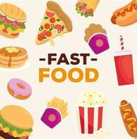 banner de comida rapida vector