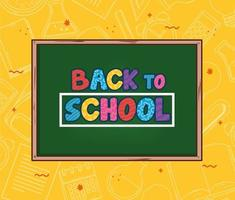 back to school banner with chalkboard vector