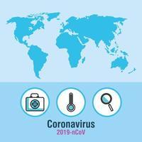 Coronavirus pandemic banner vector