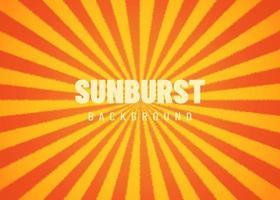 Hermoso fondo de rayos de sol con sol amarillo anaranjado vector