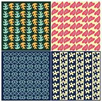 Set of Cute bright patterns. Vector illustration bright design. Abstract geometric pattern on vibrant background