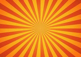 Hermoso fondo de rayos de sol con color amarillo y naranja brillante. vector