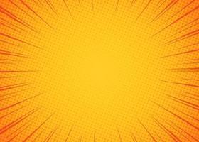Beautiful sunburst background with yellow orange vector