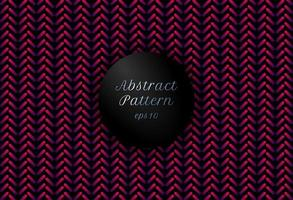 Abstract pink and purple gradient color geometric rounded lines shape chevron pattern on black background. vector