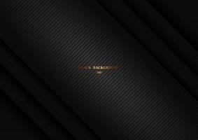 Abstract black shiny layer diagonal with stripes lines, texture background. Luxury style. vector