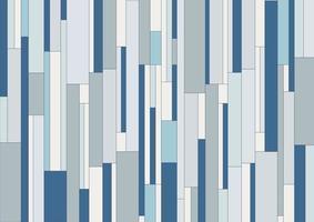 Rayas rectangulares verticales geométricas abstractas, fondo y textura de tono de color azul de patrón. vector