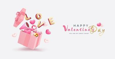 Valentine's Day Sale background vector