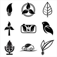 Natural Logo Design Icon Template For Business And Company Set vector