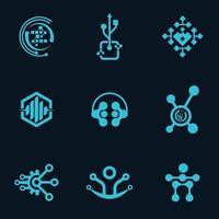 Professional Tech Logo Icon Vector Design Bundle