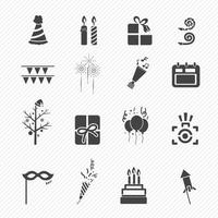 Happy New Year icons isolated on background