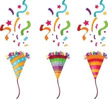 Popper party illustration