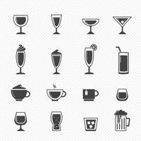 Drink icons set illustration vector