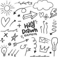 Hand drawn doodle element vector