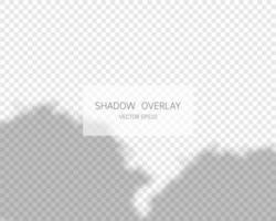 Shadow overlay effect. Natural shadows isolated