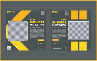 plantilla de banner de redes sociales de vector. con líneas negras y amarillas. adecuado para publicaciones en redes sociales y publicidad en Internet en sitios web vector