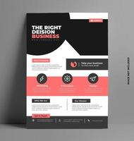 Vector Brochure Flyer Template in A4 Size.