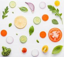 Food pattern with raw ingredients