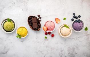 Colorful ice cream photo