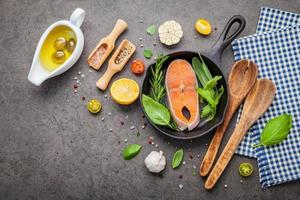 Salmon fillet with herbs and spices