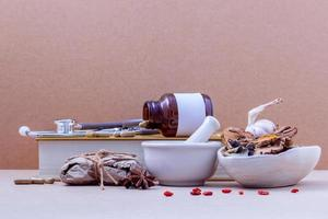 Various Chinese herbs and medicine