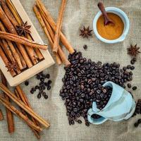 Coffee, cinnamon, and anise photo